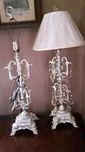 Two lamps for sale, 30.00.