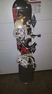 Ride LowRide 130 Snowboard with K2 Bindings.