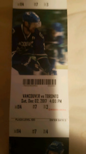 Leafs vs Canucks  Row 7 From Ice!!  Great Deal!!