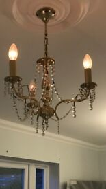 Three light chandeliers