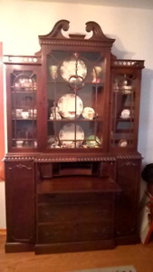 Break Front  Antique China Cabinet *OBO*