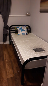 Single bed -Frame and mattress