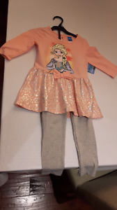 New Girls Frozen Outfit Size 6
