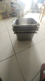 5 x stainless steel sauce bowl