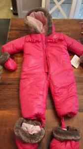 Brand new baby girl Absorba Snowsuit size 6-9 months