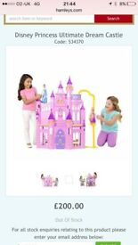 Disney princess ultimate castle with dolls