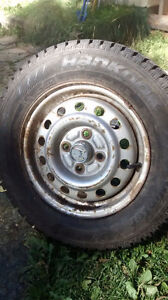 Winter tires 175 70 13 with or without 4 on 100 rims