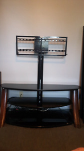Premium TV Stand with glass shelves