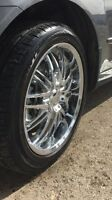 """20"""" Chrome rims for sell with tire"""