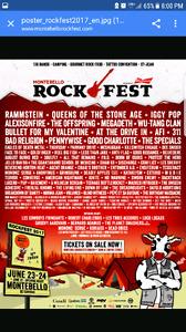 VIP backstage VIP camping x2 Montebello rockfest