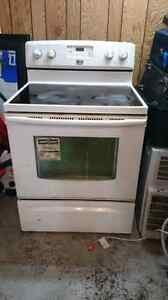 Frigidaire with glass top