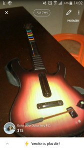 Guitare pour Guitar hero PS3