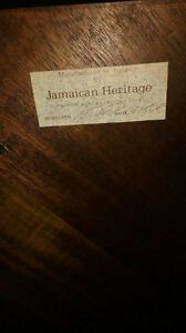 Jamaican heritage coffee table and end tables