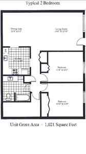 December Rent Free - 1K Sqft 2BR (All included)