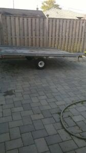 Galvanized double snowmobile trailer