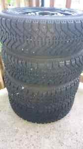 Goodyear Winter Tires with rims 175/65R14 London Ontario image 1