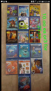 Disney movies blu rays reduced for today