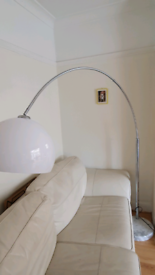 Hanging lamp with marble base