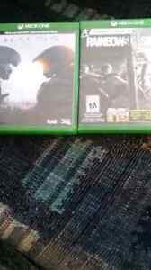 Halo 5 and Rainbow 6 Siege for sale
