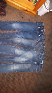 Three pairs boys jeans size 8