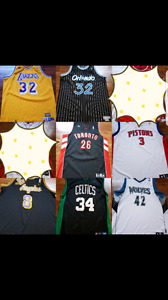 Selling my bball jersey collection. Worn only once or twice