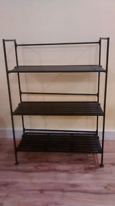 Metal shoe rack/ bookcase