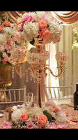 Centerpieces for Rent:Candelabras/Vases/flowerball/Mazanita tree