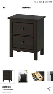 2 NEW Hemnes Ikea Nightstands/End Tables