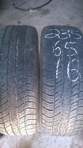 Two Excelent 235 65 16 all season tires.