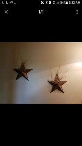 Rustic stars - wall decor