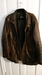 Leather coat and more