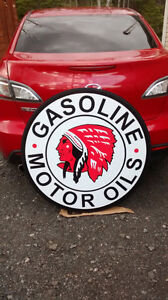 LARGE CLASSIC GASOLINE SIGNS
