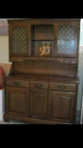 Buffet and hutch. In good condition.