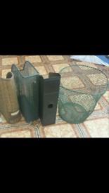 Desk folders + basket