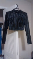 Leather guess jacket new