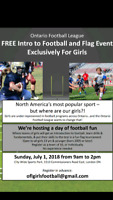 Free Girls Football Event!