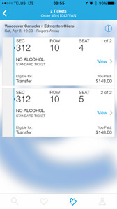 CANUCKS TICKETS FOR SALE