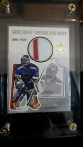 Grant Fuhr Authentic Game-Worn Jersey Card