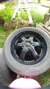 """Set of 22"""" Dolce rims and tires $1000 obo"""