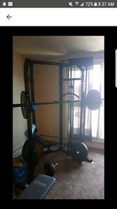 Squat rack setup