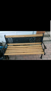 Wrough iron garden bench
