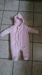 Warm buddle suit 3-6 months