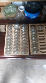 40no Ikea Glass Single Tee Candle Holders.
