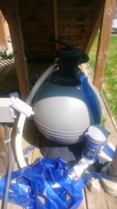 Above Ground pool filter and pump.