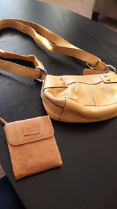 Leather fossil purse and wallet