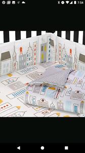Literie dwell studio modèle skyline pour bébé garçon