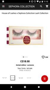 Sephora x House of Lashes falsies in Cecile