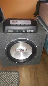 BRAND NEW MTX AMPLIFIER AND SUB WOOFER