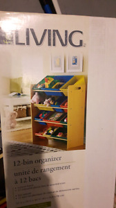 Colourful bin organizer