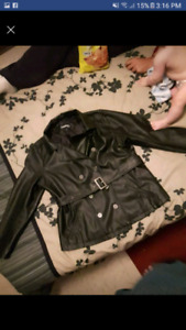 George brand leather jacket